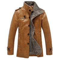 Winter Men S PU Leather Jacket Fashion Business Men Thick Jacket Young Warm And Comfortable Clothing