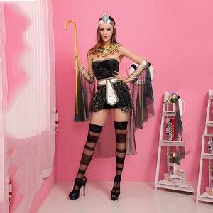 Image 4 - Disfraces de California para mujer, disfraz de diosa egipcia, disfraz de adulto de Cleopatra, Egipto, disfraz de Cosplay para Halloween, vestido de reina de Egipto