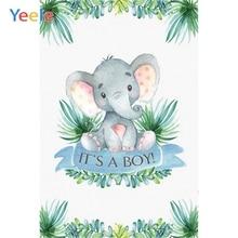 Yeele Elephant Grass NewBorn Baby Or Boy Birthday Photographic Background Customized Photography Backdrop For Photo Studio
