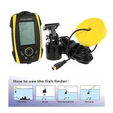 Protable Electronic Sonar Fish Finder 72M Depth Sounder Transducer Alarm Fishfinder for Boating Sea Ice Fishing Pesca