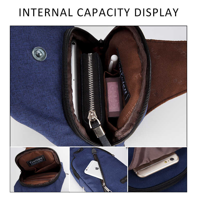 FRN New Male Chest Bag Fashion Leisure Waterproof Man Oxford Cloth Korea  Style Messenger Shoulder Bag For Teenager Bag b43cdd156c1df