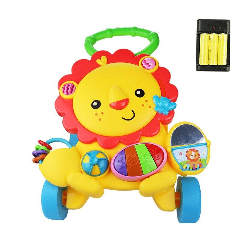 Bambino Precoce Educational Musica Regolabile Walker Bambini Bambino Trolley Sit-to-stand Camminatore Del Bambino A Quattro Ruote Equilibrio Prima Passaggi Auto Alleviare I Reumatismi