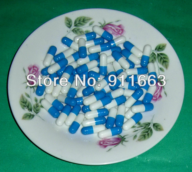 10 000pcs 1 blue white empty gelatin capsules sizes 1 joined or seperated capsules available