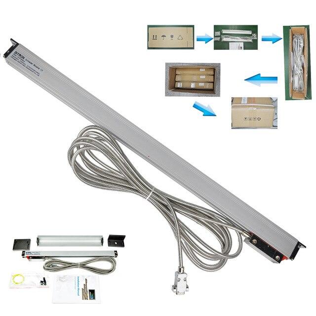 Échelle linéaire numérique de haute précision TTL/RS-422/1VPP 1um1400-1500mm IP55/encodeur linéaire/instrument de mesure de niveau de capteur linéaire