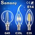 Edison LEVOU E14 Dimmable Retro Led Spotlight Luz G45 C35 Vela Do Candelabro Da Lâmpada Substituir Lâmpadas Incandescentes Edison Filamento Lâmpada LED