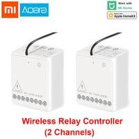 Xiaomi Aqara 2 way Control Module Wireless Relay Switch Controller Smart Setting Timer 2 Channels Work For Mijia APP and Homekit