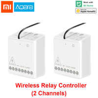 Xiaomi Aqara 2 way Control Module Wireless Relay Switch Controller Smart Setting Timer 2 Channels Work For Mijia APP and Homekit