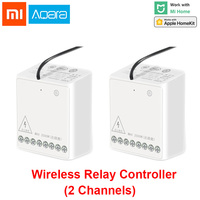 Xiaomi Aqara two way Control Module Wireless Relay Switch Controller Smart Timer 2 Channels Work For Mijia APP and Homekit