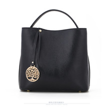 2016 Newest Design Autumn Winter Bucket Genuine Leather Women Shoulder Bag Messenger Bag, Free Shipping