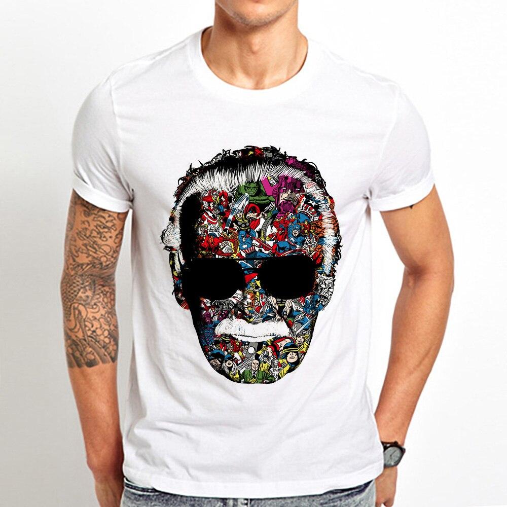 Superhero Generator Stan Lee cool   T  -  Shirt   jollypeach brand tshirt men 2019 summer new white casual   t     shirt