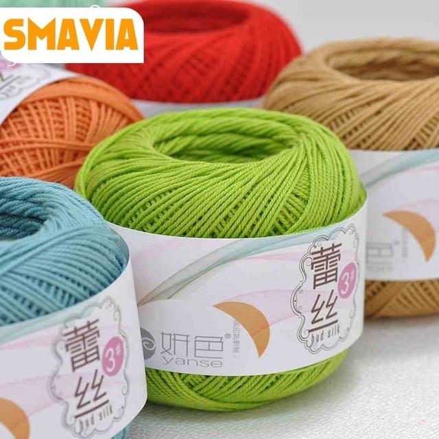 SMAVIA 100% Baumwolle 3 # Spitze Garn 100g (50g * 2 bälle) dünne ...