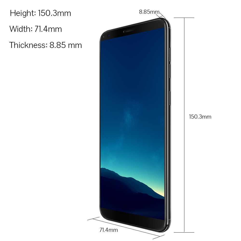 Cubot R11 смартфон 5,5 дюймов HD + Экран MT6580 Quad-Core телефон задние двойные Камера 2 ГБ + 16 Гб 2800 мА/ч, чехол для телефона Dual SIM карты