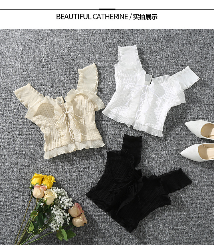 Shintimes 18 New Summer Autumn Bustier White Black Tank Top Female Sexy Bandage Sleeveless Crop Top Zipper Woman Clothes 1