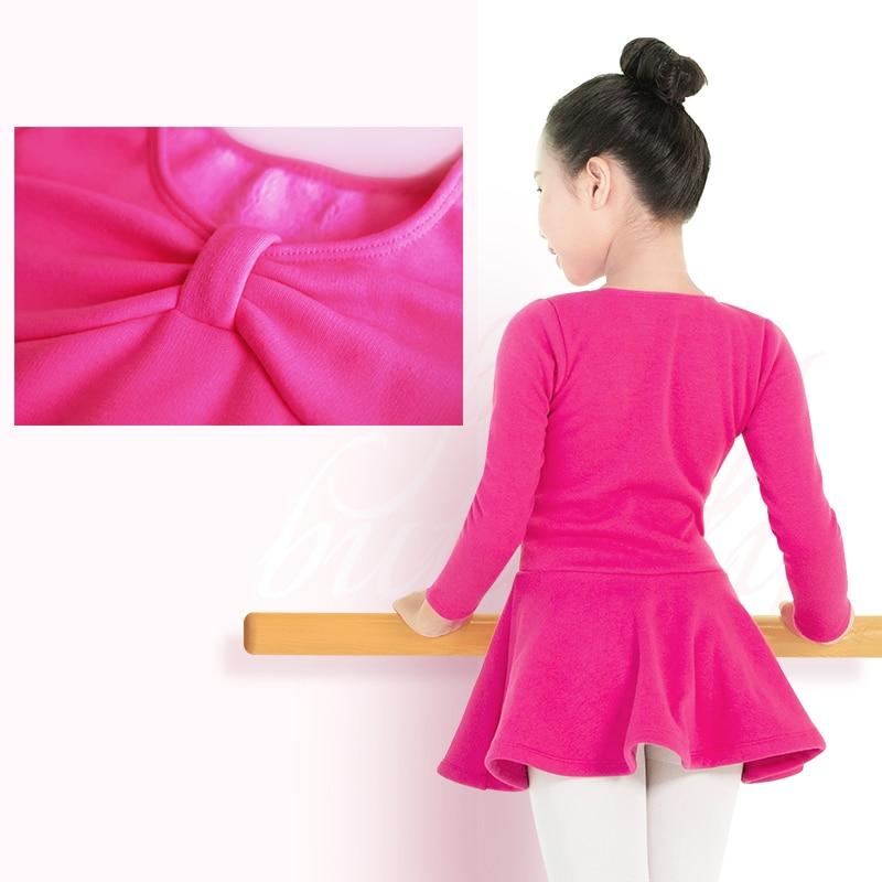 Image 2 - Autumn Winter Girls Velvet Ballet Dance Dress Children Thick Warm Gymnastic Dance Practice Costumes Ballet Tutu With ShortsBallet   -