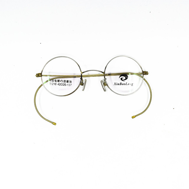 8e52ccd5bb32 Really Old Antique Vintage 42mm Round eyeglass frames Wire Rim Rx able Glasses  Spectacles