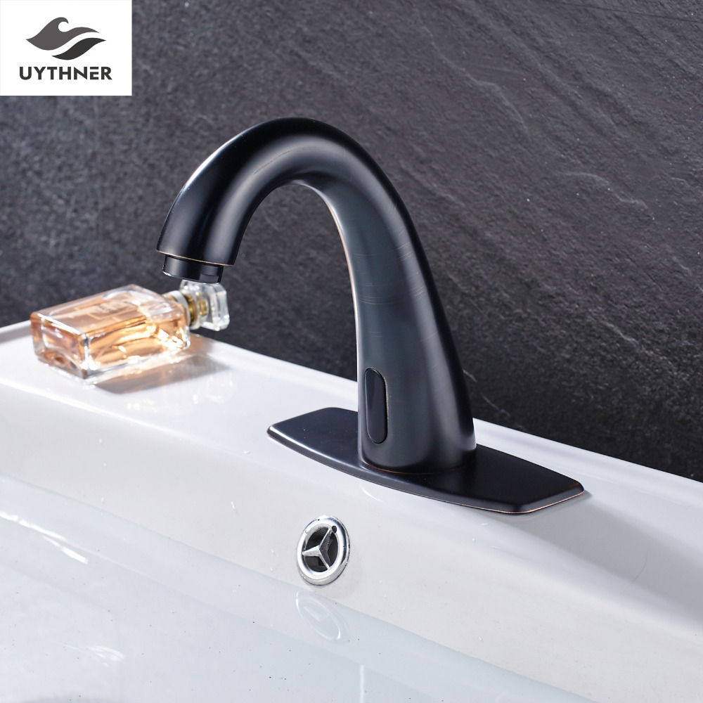 Uythner Full Copper Slope Bathroom Basin Faucet Mixer Tap Oil Rubbed Bronze Finish copper bathroom shelf basket soap dish copper storage holder silver