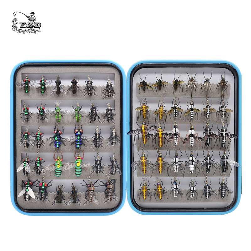 Realistic Mosquito House Fly Fishing Flies Set 48 / 60 pcs  Insect Baits for Trout Muskie  Dry Fly Lure Kit Flyfishing 133pcs set ultra thin portable nymph scud midge fly fishing flies slim box set for fly fishing trout baits