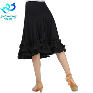 Image 2 - Hot Sale Ballroom Dance Costume Skirt Tango Modern Standard Performance Costume Waltz Salsa Rhythm Dress Elastic Waistband