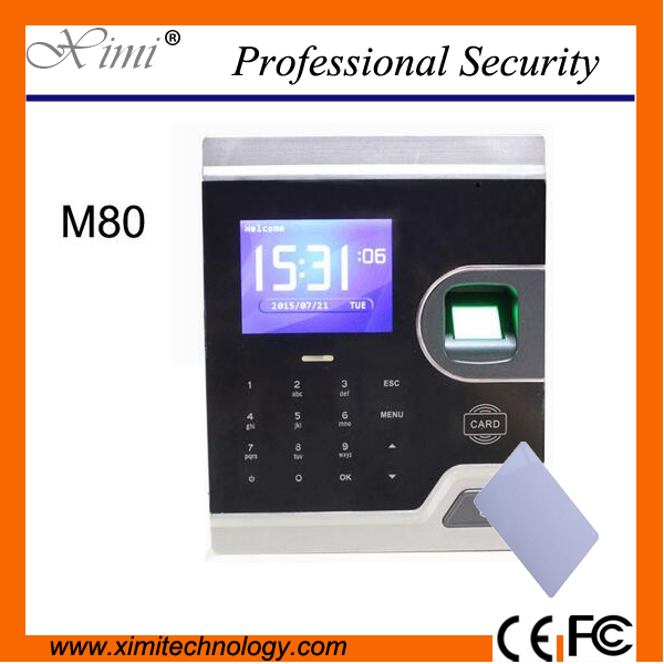 2.8 inch color screen m80 with IC card TCP/IP communication has biometric Fingerprint access control and time attendance biometric fingerprint access controller tcp ip fingerprint door access control reader
