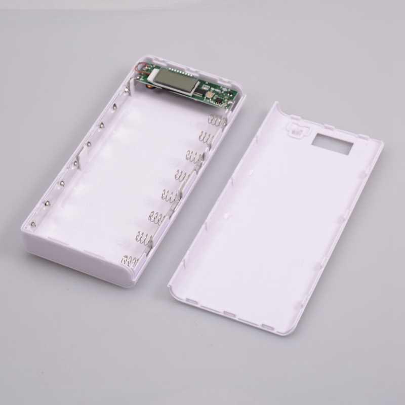 WHAY 5 V USB 8*18650 без батареи банк питания корпус мобильного телефона зарядное устройство коробка DIY повербанк для iPhone Xiaomi Pover (без батареи)