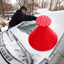 2 шт./компл. 3 в 1 волшебный лопата для снега в форме конуса уличная зимняя автомобильный инструмент для снежной погоды лобовое стекло+ Воронка скребок для льда для Chevrolet BMW и т. д