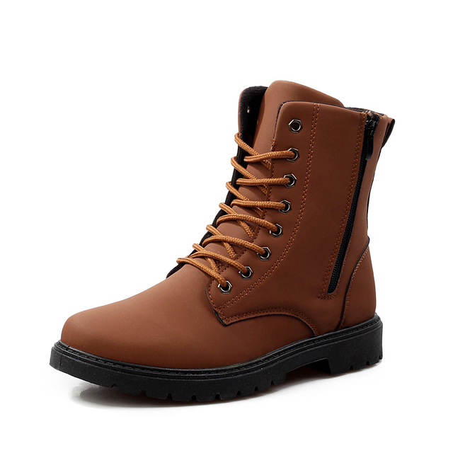 Mens Boots2015Leather autumn boots,plus size cow split men Riding shoes fashion casual shoes boots Mid Calf motorcycle boots men