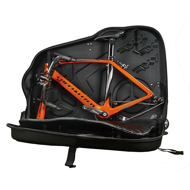 цена New EVA bike hard case box rainproof bycicle travel bag for 26 27.5 MTB 700C road bikes Bicicleta bike pack accessories