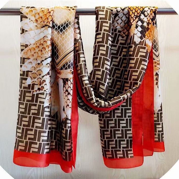 Honey Ionasi 100% Twill Silk Scarf Women Square Sapin Chair Bag Print Neckerchief Luxury Brand Foulard Samll Bandana Lady Silk Scarves Grade Products According To Quality Women's Scarves