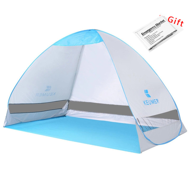 Automatic Beach Tent KEUMER 200*120*130cm  2 Persons Camping Tent UV Protection Shelter Outdoor Tent Instant Pop-up Summer Tent