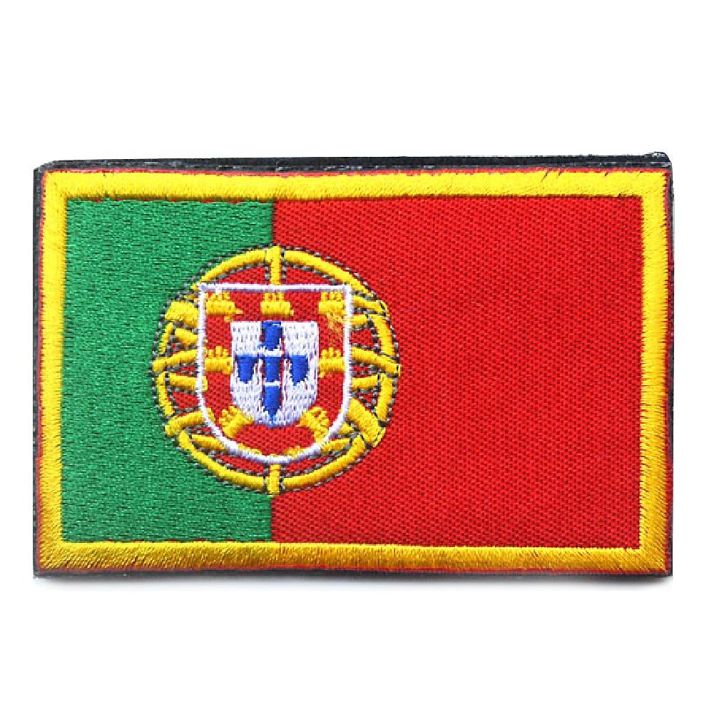 2016 Fashion <font><b>Patch</b></font> Of Portugal National <font><b>Flag</b></font> Green & Red w/<font><b>Gold</b></font> Border/ Embroidered Iron On <font><b>Patches</b></font> Applique Patriotic <font><b>Patch</b></font>