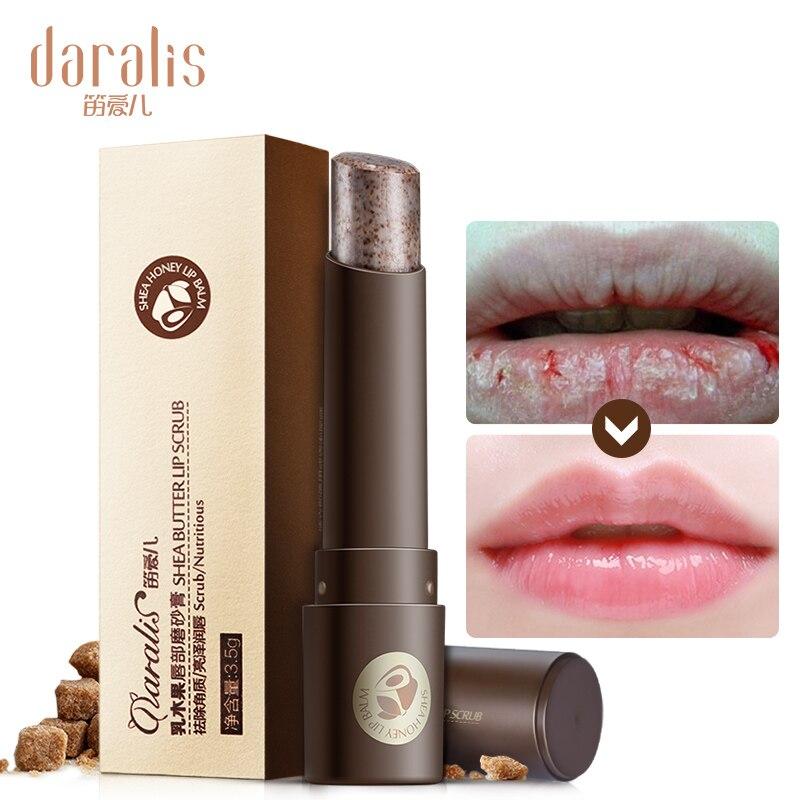 Hot Sale Shea Butter Lip Scrub Makeup Nourishing Moisturizing Lipbalm Anti Aging Exfoliating Full Lip Balm Remove Dead Skin 3.5g