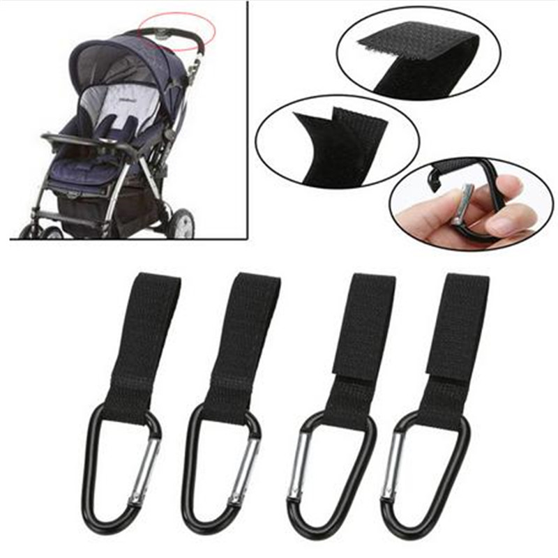 4pcs Shopping Bag Stroller Hook for Wheelchair Stroller Carabiner Clip Baby Strollers Carriage Bag Hooks Clip Accessories  ...