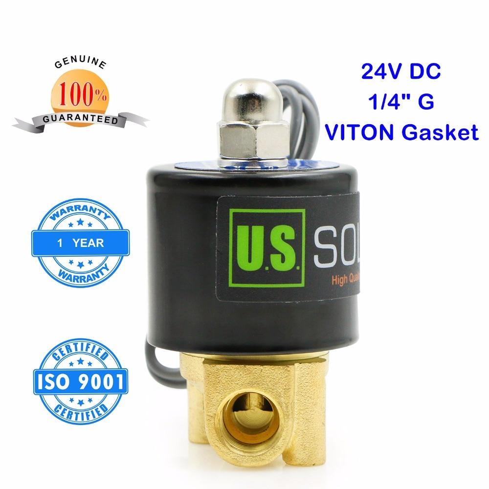 9f353588816c9 ÉTATS-UNIS Solide 1 4 En Laiton Électrique Électrovanne 24 V DC G Fil  Normalement Fermé eau, air, diesel.