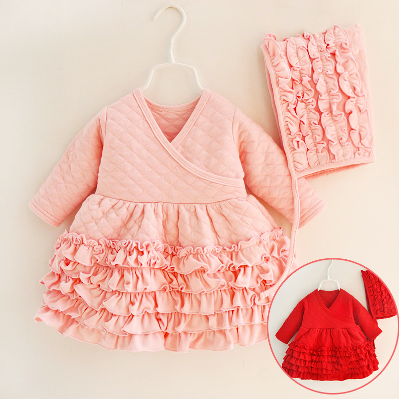 7a5cba7f26fb Buy red ruffle baby dress infant and get free shipping on AliExpress.com