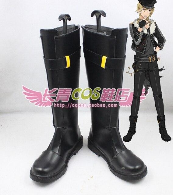 Ensemble Stars Undead hakaze kaoru Cosplay Shoes Boots Custom Made