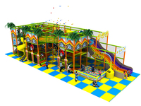Customized Amusement Indoor Soft Playground Park Center With Big Slide YLW IN171055