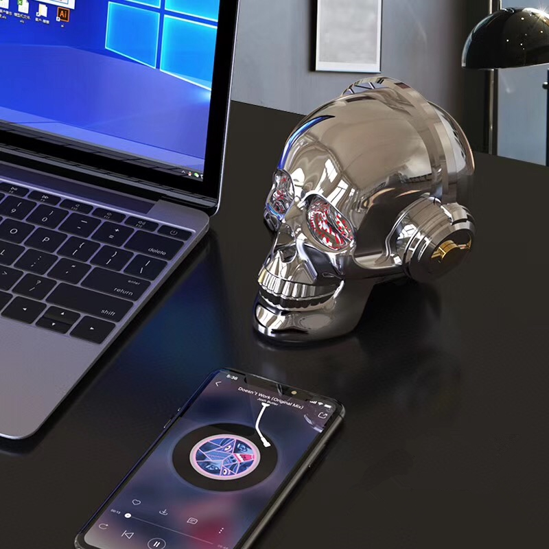 ∞Gute Nano AeroSkull Skull Head Speaker dazzle LED flame ...