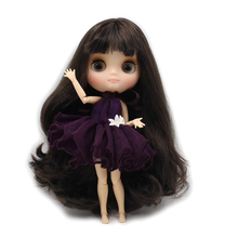 Factory Middie Blythe Doll Black Hair Jointed Body 20cm