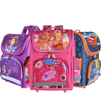 New Arrival Hot Selling Kids Backpack MONSTER HIGH Speed Car WINX EVA FOLDED Schoolbag Children School