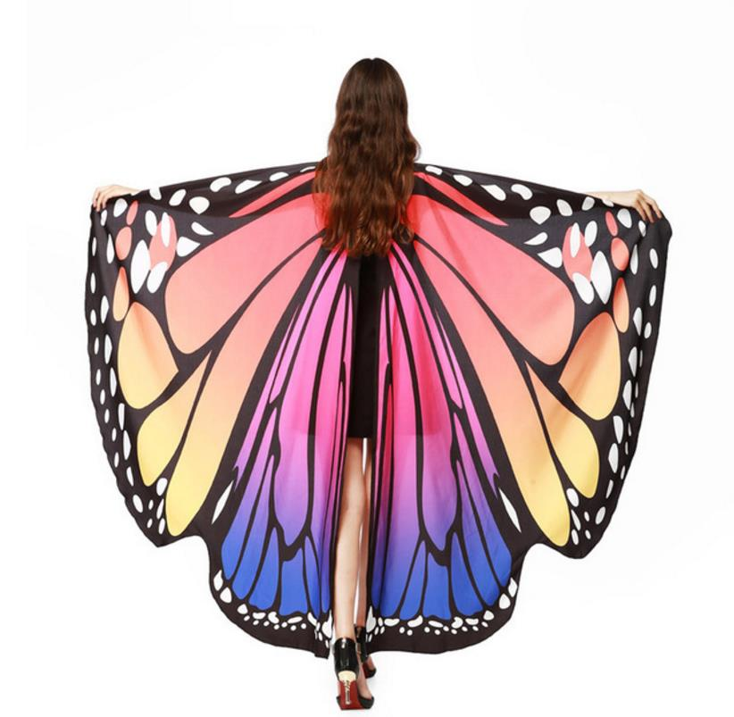 Drop-Shipping-HOT-Women-Butterfly-Wings-Pashmina-Shawl-Scarf-Nymph-Pixie-Poncho-Costume-Accessory (5)