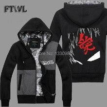 Naruto Gaara Cosplay Jacket Sudaderas Hombre Hoodies Men Coats Tracksuits autumn and winter Sweatshirt Clothes M-XXL