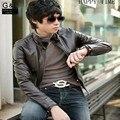 Новое прибытие марка мотоцикла кожаные куртки мужские Мягкий Pu кожаная куртка jaqueta де couro masculina мужские кожаные пальто Для человек