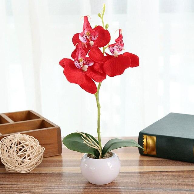 Nuovo Piante Artificiali Nuziale Floreale Decorazione Della Casa Ornamentale Flo