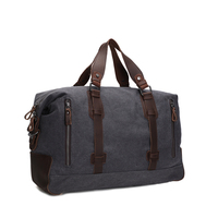 ROCKCOW Vintage Military Canvas Leather Big Duffle Bag Men S Travel Bags Carry On Luggage Bags
