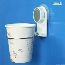 Dehub Suction Cup Plastic Holder Creative Mug Bathroom Stainless Steel Set  With Design