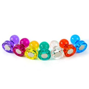 Peerless 10 PCS DIY Strong Colored Magnetic Thumbtacks Neodymium Noticeboard Skittle Pin Magnets Whiteboard Random Color