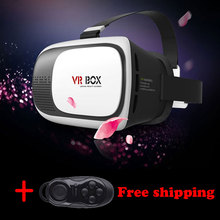 shipping free vr box virtual reality controle vr box vr headset mobile with game controler box virtual 3d glasses TVR01#
