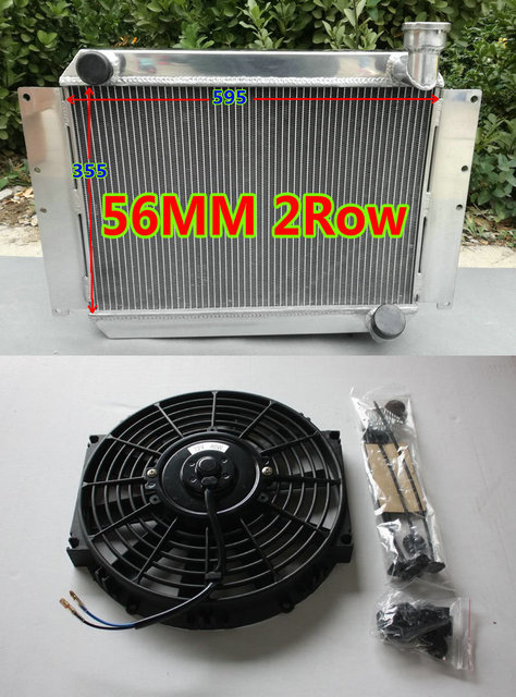 US $195 0 |Aluminum radiator UP TO 700HP FOR 1955 1960 Chevrolet Chevy  Corvette 350 C1 265/283 SB V8 MT + Fan 4 3L 4 6L 56 57 58 59-in Oil Coolers
