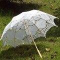 2015 Bridal зонтик белого кружева зонтик ручной летом Battenburg кружева зонтик свадебные украшения свадебные аксессуары