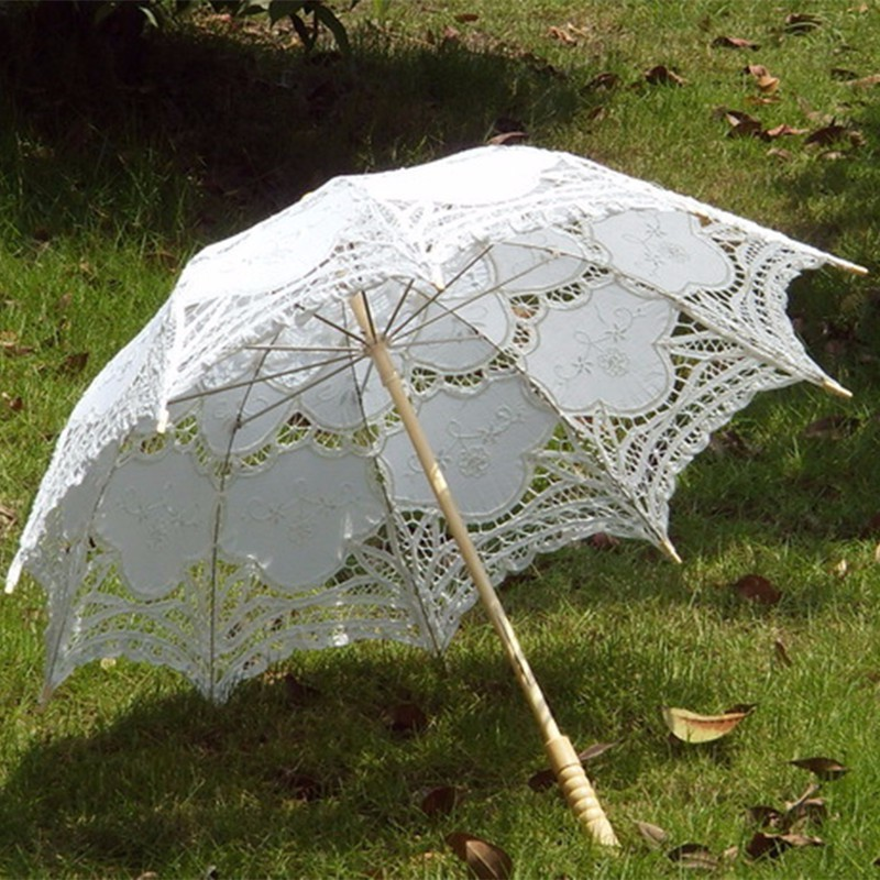 decorative umbrellas for weddings 2015 bridal umbrella white lace parasol handmade summer 3465